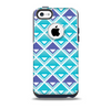 The Triangular Teal & Purple Abstract Cubes Skin for the iPhone 5c OtterBox Commuter Case
