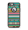 The Tribal Vector Green & Pink Abstract Pattern V3 Apple iPhone 6 Otterbox Defender Case Skin Set