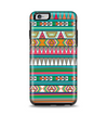 The Tribal Vector Green & Pink Abstract Pattern V3 Apple iPhone 6 Plus Otterbox Symmetry Case Skin Set
