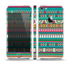 The Tribal Vector Green & Pink Abstract Pattern V3 Skin Set for the Apple iPhone 5