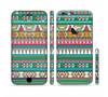 The Tribal Vector Green & Pink Abstract Pattern V3 Sectioned Skin Series for the Apple iPhone 6