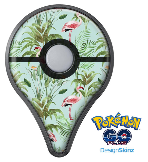 The Tropical Flamingo Scene  Pokémon GO Plus Vinyl Protective Decal Skin Kit