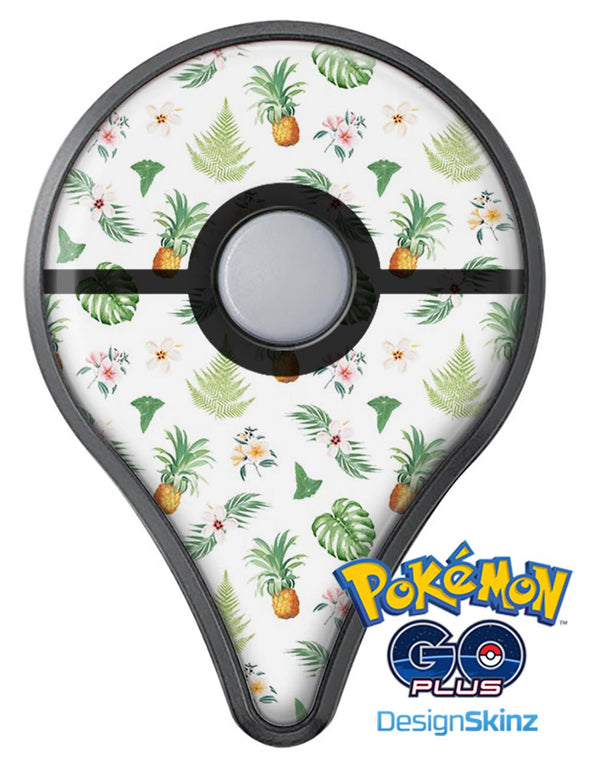 The Tropical Pineapple and Floral Pattern Pokémon GO Plus Vinyl Protective Decal Skin Kit