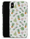 The Tropical Pineapple and Floral Pattern - iPhone X Clipit Case