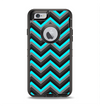 The Turquoise-Black-Gray Chevron Pattern Apple iPhone 6 Otterbox Defender Case Skin Set