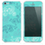 The Turquoise Abstract Pattern Swirl V5 Skin for the iPhone 3, 4-4s, 5-5s or 5c