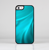 The Turquoise Blue Highlighted Fabric Skin-Sert for the Apple iPhone 5c Skin-Sert Case