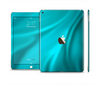 The Turquoise Blue Highlighted Fabric Skin Set for the Apple iPad Pro