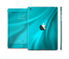 The Turquoise Blue Highlighted Fabric Skin Set for the Apple iPad Mini 4