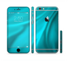 The Turquoise Blue Highlighted Fabric Sectioned Skin Series for the Apple iPhone 6