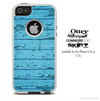 The Turquoise Blue Wood Slabs Skin For The iPhone 4-4s or 5-5s Otterbox Commuter Case