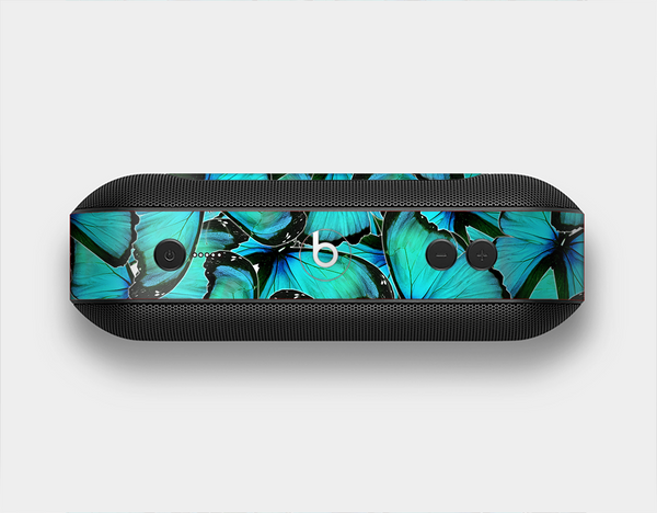 The Turquoise Butterfly Bundle Skin Set for the Beats Pill Plus
