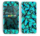The Turquoise Butterfly Bundle Skin for the Apple iPhone 5c