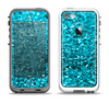 The Turquoise Glimmer Apple iPhone 5-5s LifeProof Fre Case Skin Set