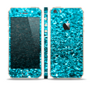 The Turquoise Glimmer Skin Set for the Apple iPhone 5s
