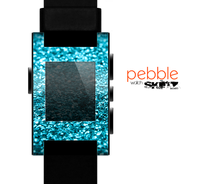 The Turquoise Glimmer Skin for the Pebble SmartWatch