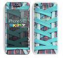 The Turquoise Laced Shoe Skin for the Apple iPhone 5c