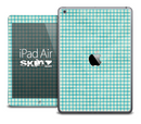 The Turquoise Plaid Skin for the iPad Air