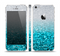 The Turquoise & Silver Glimmer Fade Skin Set for the Apple iPhone 5