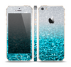 The Turquoise & Silver Glimmer Fade Skin Set for the Apple iPhone 5s