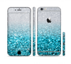 The Turquoise & Silver Glimmer Fade Sectioned Skin Series for the Apple iPhone 6