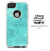 The Blue Swirled Abstract Design Design Skin For The iPhone 4-4s or 5-5s Otterbox Commuter Case