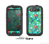 The Turquoise Vintage Vector Heart Buttons Skin For The Samsung Galaxy S3 LifeProof Case