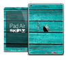 The Turquoise Wood Planks Skin for the iPad Air