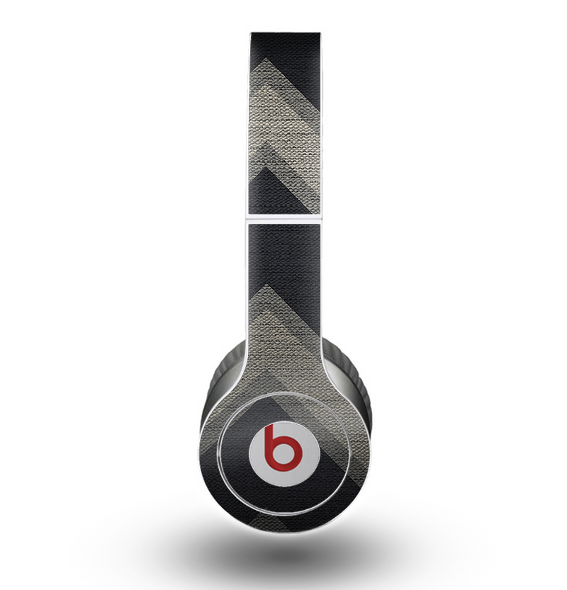 The Two-Toned Dark Black Wide Chevron Pattern Skin for the Beats by Dre Original Solo-Solo HD Headphones