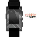 The Two-Toned Dark Black Wide Chevron Pattern V3 Skin for the Pebble SmartWatch