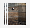 The Uneven Dark Wooden Planks Skin for the Apple iPhone 6 Plus
