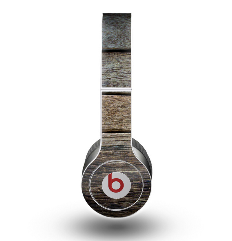 The Uneven Dark Wooden Planks Skin for the Beats by Dre Original Solo-Solo HD Headphones
