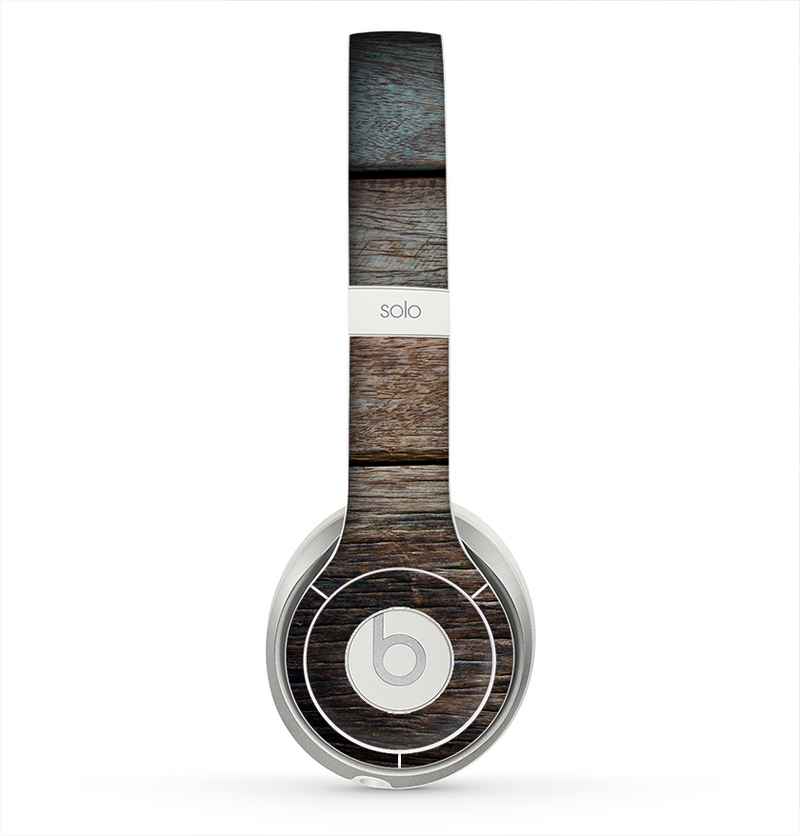 The Uneven Dark Wooden Planks Skin for the Beats by Dre Solo 2 Headphones