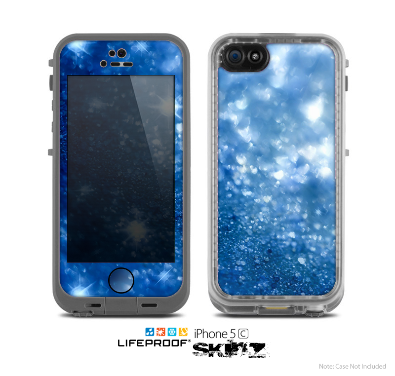 The Unfocused Blue Sparkle Skin for the Apple iPhone 5c LifeProof Case