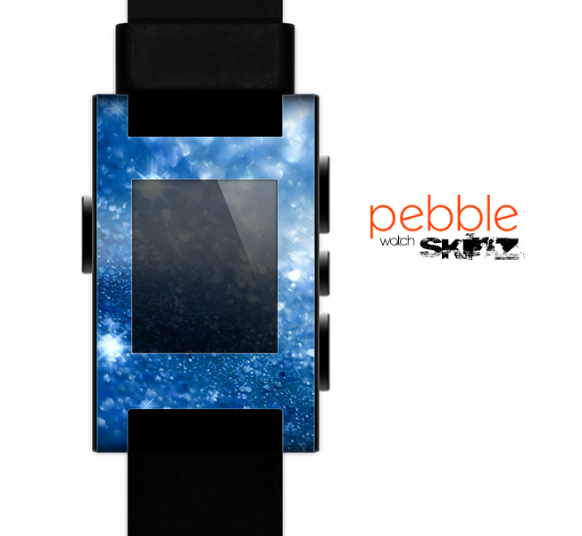 The Unfocused Blue Sparkle Skin for the Pebble SmartWatch es