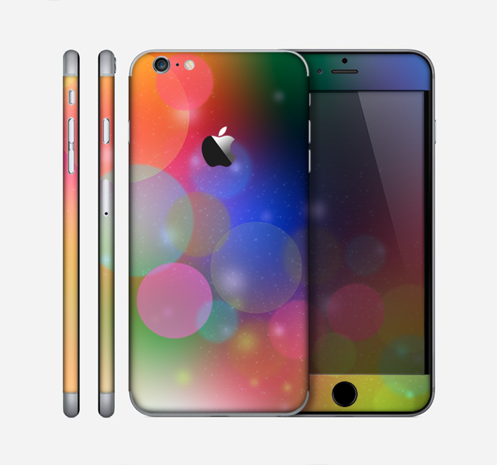 The Unfocused Color Rainbow Bubbles Skin for the Apple iPhone 6 Plus