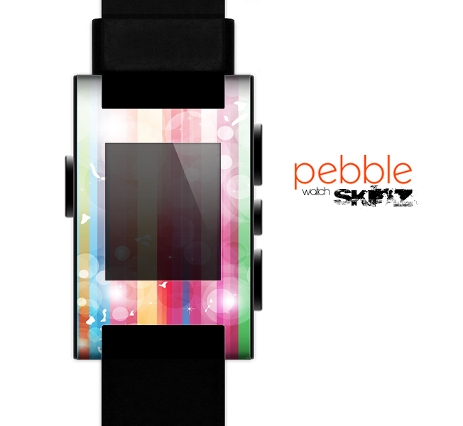 The Unfocused Color Vector Bars Skin for the Pebble SmartWatch