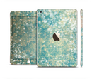 The Unfocused Green & White Drop Surface Full Body Skin Set for the Apple iPad Mini 3