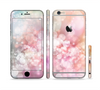 The Unfocused Pink Abstract Lights Sectioned Skin Series for the Apple iPhone 6