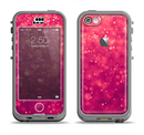 The Unfocused Pink Glimmer Apple iPhone 5c LifeProof Nuud Case Skin Set