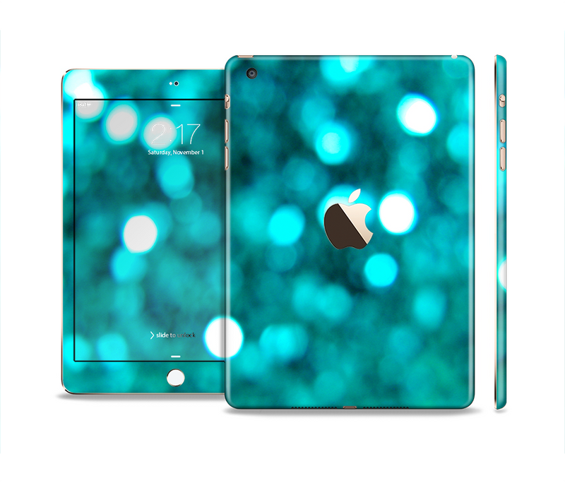 The Unfocused Subtle Blue Sparkle Full Body Skin Set for the Apple iPad Mini 3