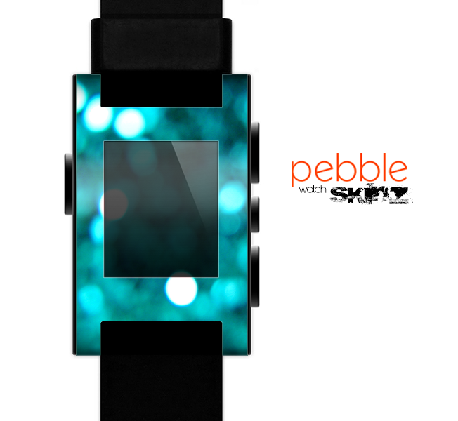 The Unfocused Subtle Blue Sparkle Skin for the Pebble SmartWatch