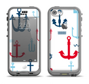 The Various Anchor Colored Icons Apple iPhone 5c LifeProof Nuud Case Skin Set