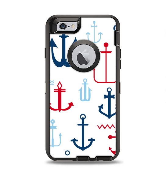 The Various Anchor Colored Icons Apple iPhone 6 Otterbox Defender Case Skin Set