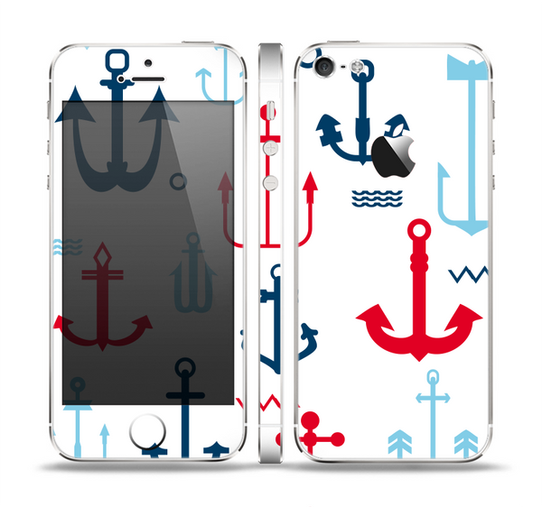 The Various Anchor Colored Icons Skin Set for the Apple iPhone 5
