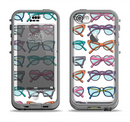 The Various Colorful Vector Glasses Apple iPhone 5c LifeProof Nuud Case Skin Set