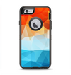 The Vector Abstract Shaped Blue-Orange Overlay Apple iPhone 6 Otterbox Defender Case Skin Set