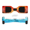 The Vector Abstract Shaped Blue-Orange Overlay Full-Body Skin Set for the Smart Drifting SuperCharged iiRov HoverBoard