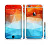 The Vector Abstract Shaped Blue-Orange Overlay Sectioned Skin Series for the Apple iPhone 6