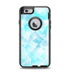 The Vector Abstract Shaped Blue Overlay Apple iPhone 6 Otterbox Defender Case Skin Set